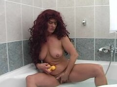 Mature redhead Tammy gets unforgettably fucked in the bathroom
