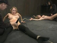 Lesbian Sex with Tied Up Babes with Big Tits In BDSM Vid