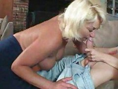 He plunges cock into her mature pussy