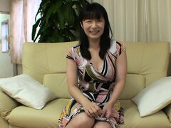 Stunning Asian milf with a pretty smile Yukie drops her clothes, eager to get fucked