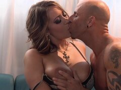 Trina Michaels kisses and swallowing sperm