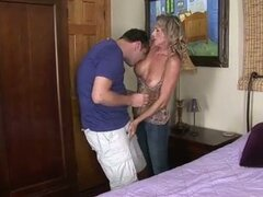 Busty milf fucked very hard into her tight pussy !