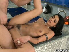Well-knit babe Lou Charmelle allows to pierce her tasty...