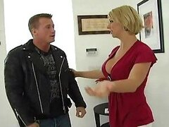 Sexy Blond MILF Deepthroats and Gets Fucked Really Hard
