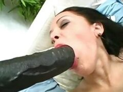 Lisa riding white dildo