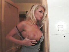 Blonde whore Monica Moore cheating on her husband and fucking Rocky B in the toilet