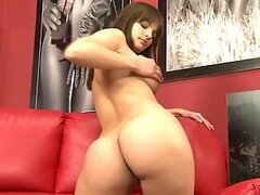 Rita the cute brown-haired chick undresses after the casting