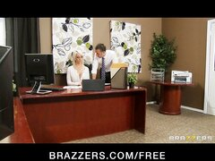 Stunning busty bombshell Lexi Swallow seduces her boss
