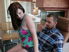 Horny teen slut Mary Jane Mayhem seduces a guy and burries his face between her twins