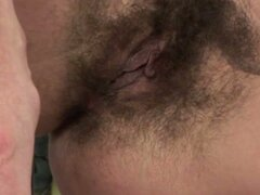 Hairy cunt gets fucked in the kitchen