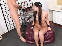 Avery was gagged and paddled by her master!