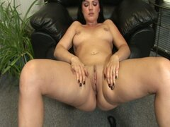 Ava rose masturbates with a nice big dildo