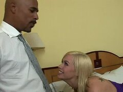 Blonde In Skirt Gets BBC