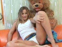 Blonde solo girl Vova masturbation video