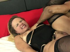 Maryana takes a real monster into her big ass...