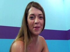 Teen squirting for the first time and becomes