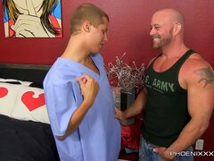 Blade Woods And Casey Williams - Heart Pounding Muscle on Twink Sex