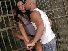 Aletta Ocean fucking two guys in prison
