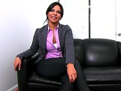 Interview with Latina Packing a Perfect Booty Ends with Hot Sex
