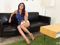 Monique Alexander flirts with the camera by exposing herself