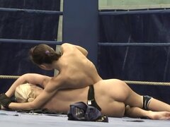 Babes Kiss On The Floor After Catfight