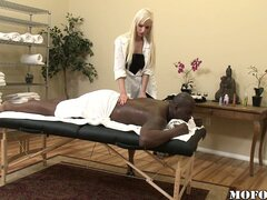 The replacement masseuse never massaged a big black boner before