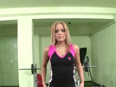 Amanda Lynn's Workout Ends With a Dildo in Her Pussy