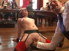 Submissive Redhead Gets in All Fours