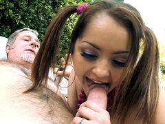 Girl gets a job but decides to fuck old dude.