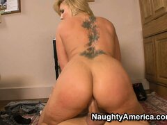 Flower Tucci humps his hard hunk of meat with her tight twat
