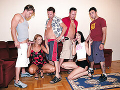 Judit and Andy are orgylicious babes who tend to have multiple orgyasms when bunch of guys have their way with their mouths, pussies and assholes! C'mon in check these fuckaholics out in action! They will appeal to you I can tell!