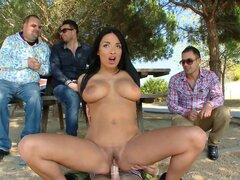 Anissa Kate has sex with her BF in the presence of his friends