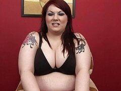 Sexy fat tattooed momma with tattooes...