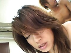 Japanese whore loves fucking on top
