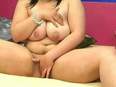 Big tittied BBW webcam bitch masturbates for me