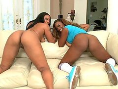 Interracial Threesome With Two Gorgeous Ebony Beauties