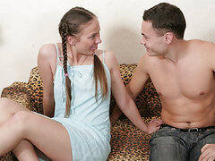 Young but very dirty girl Anna and her boyfriend decided to shoot some horny video. That dissolute guy bangs the girl so hard, that her sweet moist pussy trembles with pleasure. Anna loves that meaty cock inside of her, especially when it screws all her t