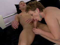 Eodit gets her hairy pussy fucked and enjoys cum on her face