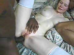 A Hot Interracial Threesome For A Kinky Redhead Babe