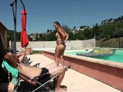 Carla fucked outside by her husband