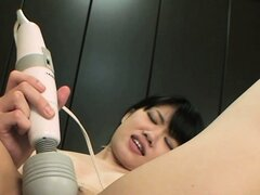 Erika's excitement grows stronger as he pleases her tight snatch with vibrator