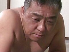 Mature Asian guy gets spanking
