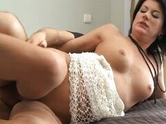 Cheating MILF plays dirty while husband is away