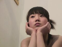 Perky breasts Asian girl solo video