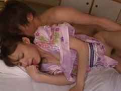Aino Kishi makes out with her man and enjoys multiposition sex