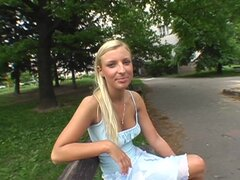 Gorgeous Euro Blonde Amateur Babe Sucking and Fucking in Public POV