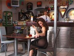 Judith Fox the hot auburn girl gets fucked in a bar