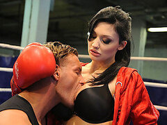 Being prude and strict trainer is not that easy, especially when it comes to coaching hottie like Aletta Ocean! Everything went pretty well, but soon the workout got more and more erotic. Aletta ended up sucking on that huge cock and getting fucked hard i