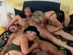 An orgy with sexy old ladies