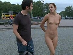 Forcing a Hot Babe To Get Naked In Public And Jump into a Fountain